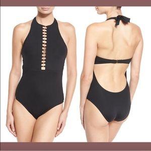 NWT Trina Turk Gypsy High-Neck One-Piece Swimsuit